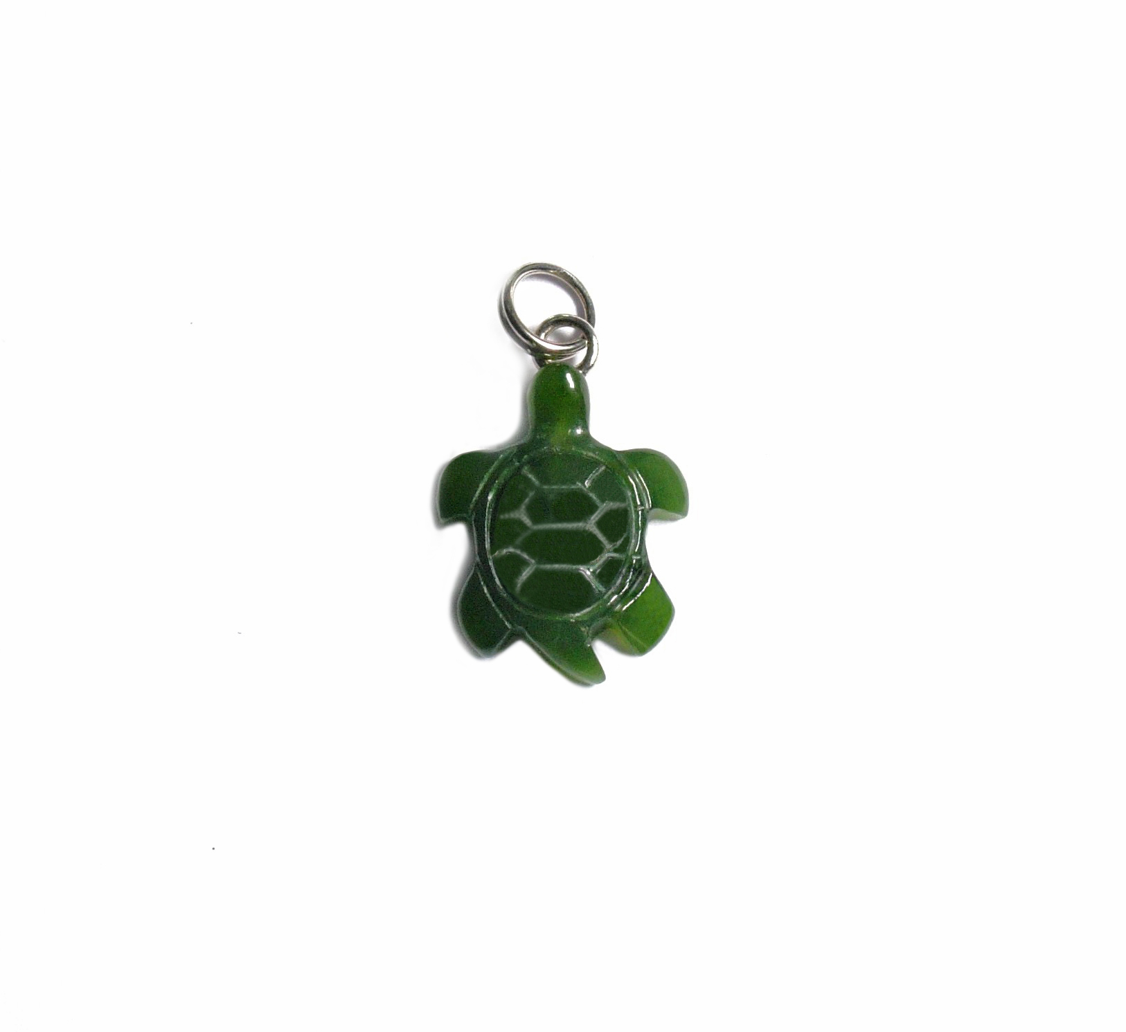 JADE TURTLE CHARM 15MM