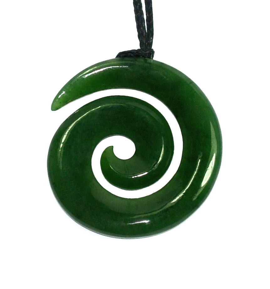 pendants pendant maori cord on sol creations leather by necklaces koru necklace bone