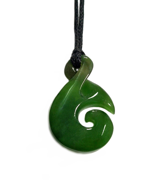 JADE SINGLE TWIST PENDANT 32MM