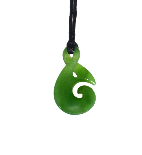 JADE SINGLE TWIST PENDANT 25MM