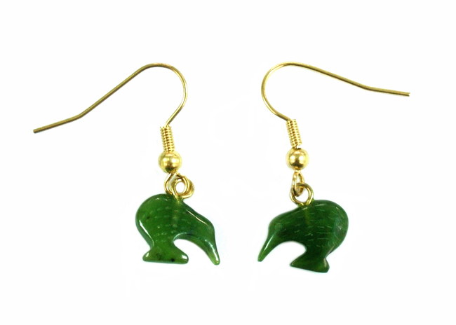 JADE KIWI DROP EARRINGS 12MM