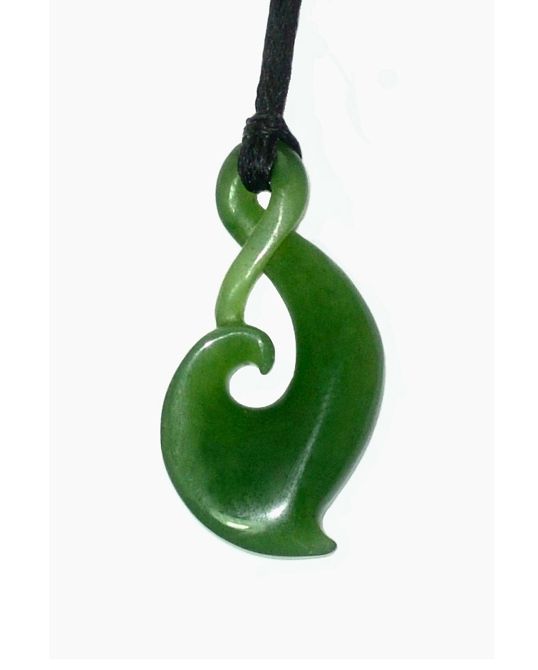 JADE SINGLE TWIST PENDANT 30MM